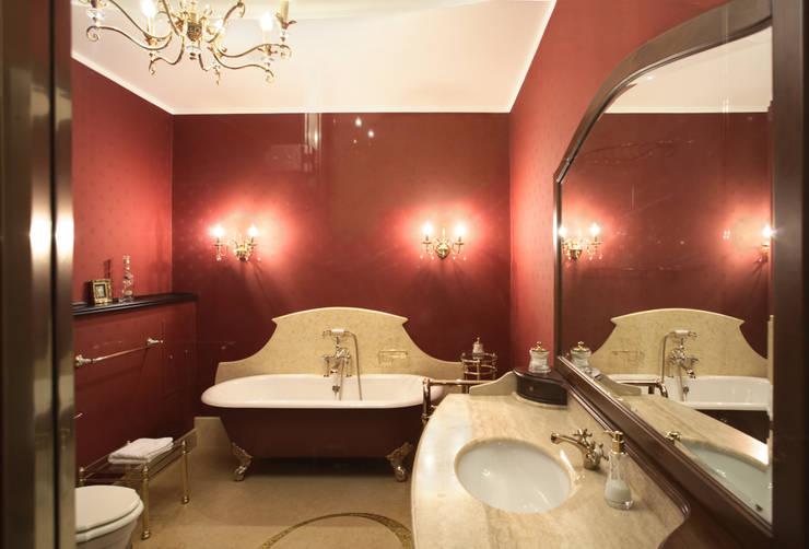 Интерьер квартиры в ЖК «Усадьба Трубецких»: Ванные комнаты в . Автор – Дизайн-бюро «ПАПИЛЛОН»