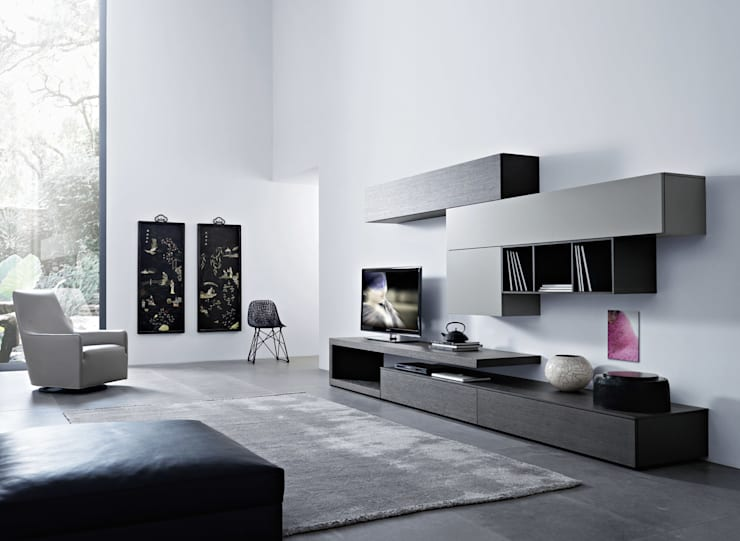 Lampo Wohnwand San Giacomo: minimalistische Wohnzimmer von Livarea