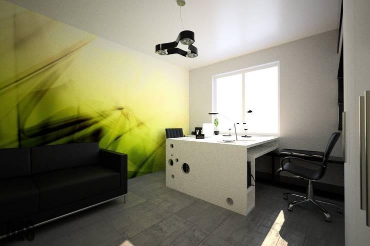 Projekt mieszkania Mysłowice: styl , w kategorii Domowe biuro i gabinet zaprojektowany przez OES architekci