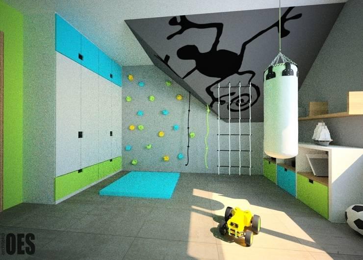 Projekt mieszkania Mysłowice: styl , w kategorii Pokój dziecięcy zaprojektowany przez OES architekci