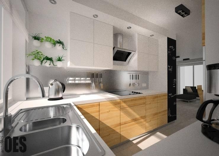 Projekt mieszkania Mysłowice: styl , w kategorii Kuchnia zaprojektowany przez OES architekci