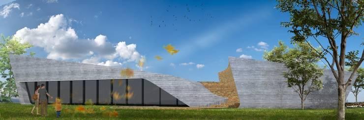 PT - Perspectiva Nordeste EN - Northeast Perspective FR - Perspective Nord-Est: Casas  por Office of Feeling Architecture, Lda