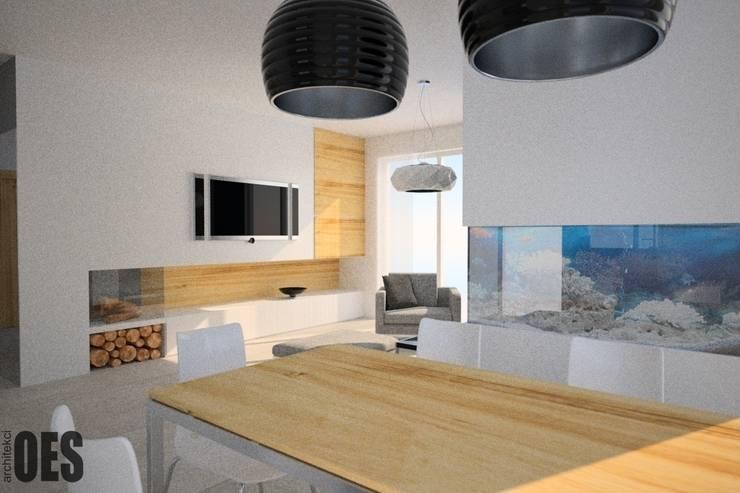 Projekt mieszkania Mysłowice: styl , w kategorii Salon zaprojektowany przez OES architekci