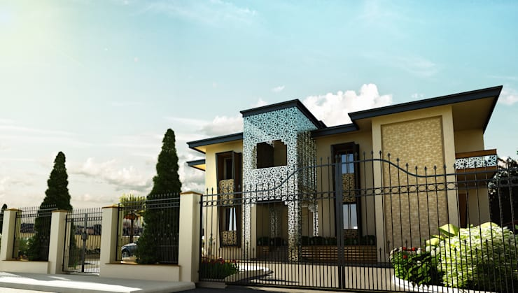 BA DESIGN – ABU DHABI  VILLA PROJECT:  tarz Evler