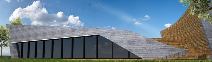 PT - Perspectiva Norte, EN - North Perspective, FR - Perspective Nord: Casas  por Office of Feeling Architecture, Lda