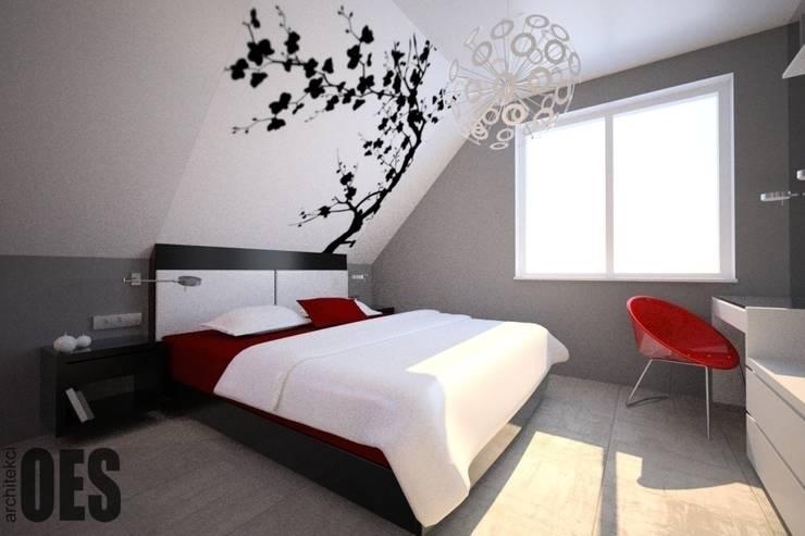 Projekt mieszkania Mysłowice: styl , w kategorii Sypialnia zaprojektowany przez OES architekci