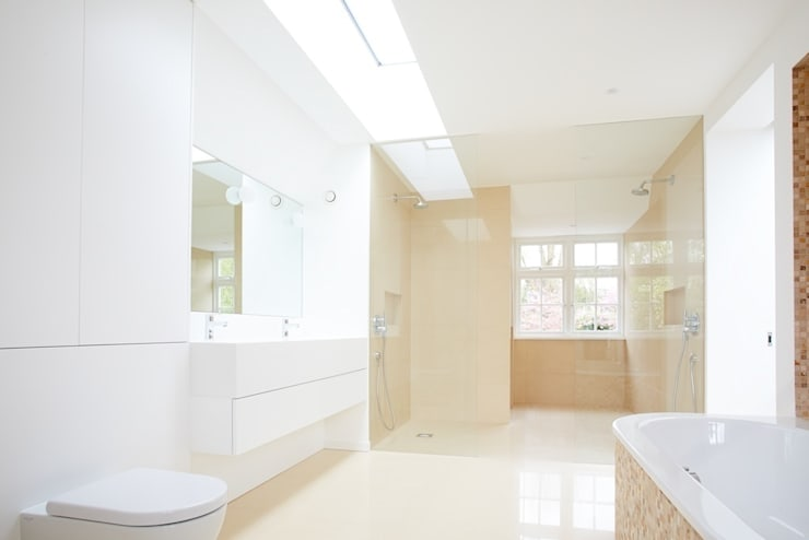 North London House Extension: modern Bathroom by Caseyfierro Architects