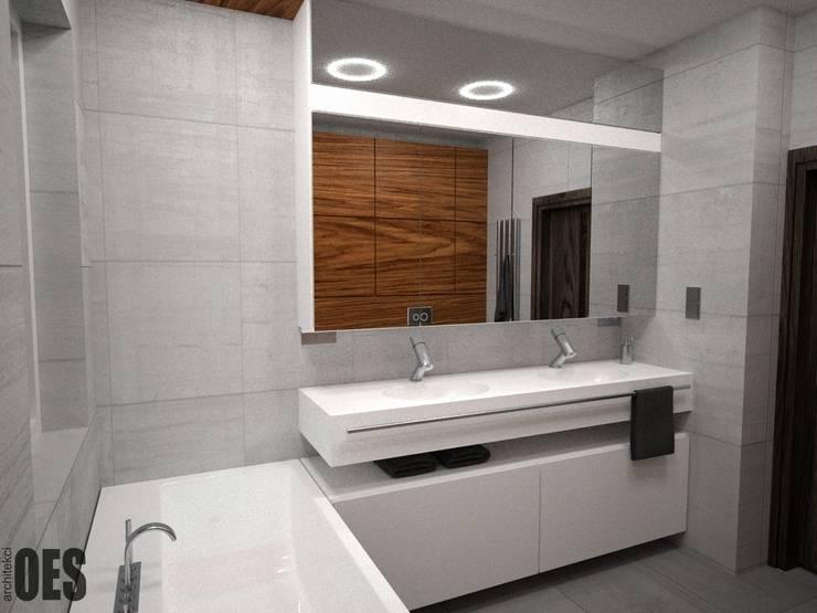 Projekt mieszkania Mysłowice: styl , w kategorii Łazienka zaprojektowany przez OES architekci