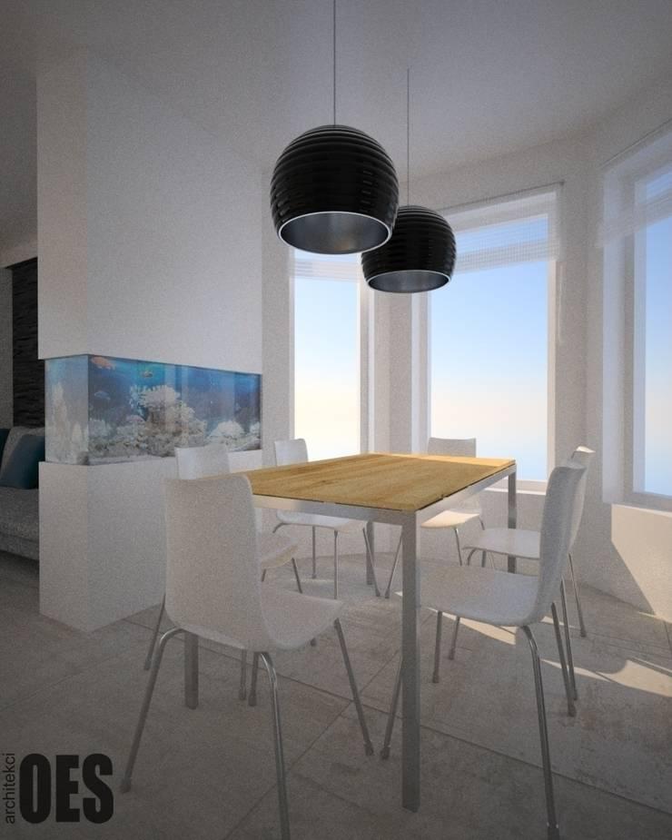 Projekt mieszkania Mysłowice: styl , w kategorii Jadalnia zaprojektowany przez OES architekci