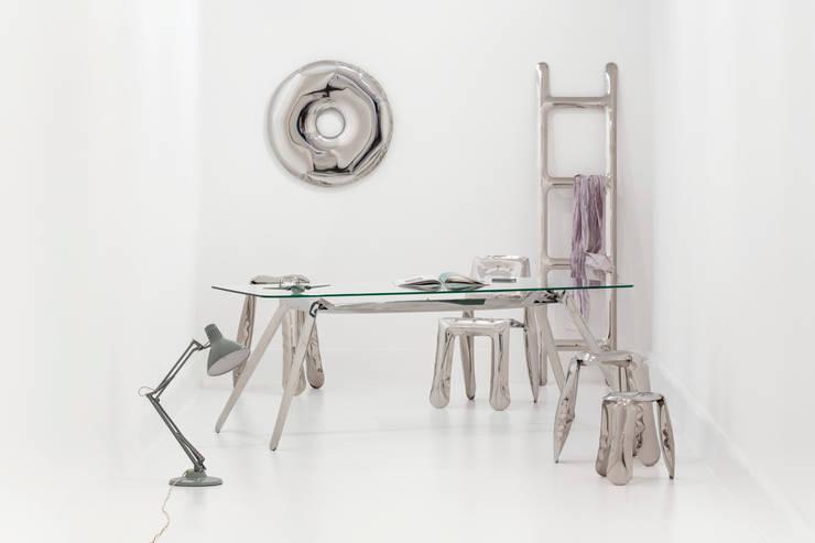 RONDO MIRROR: styl , w kategorii Garderoba zaprojektowany przez Zieta Prozessdesign