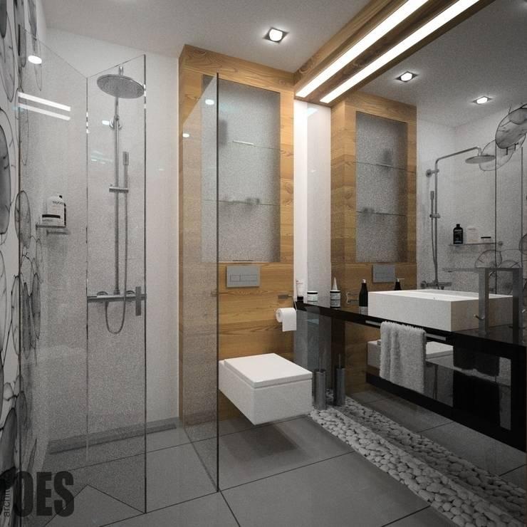 Projekt mieszkania Ustroń: styl , w kategorii Łazienka zaprojektowany przez OES architekci