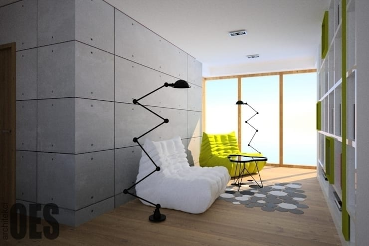 Projekt mieszkania Ustroń: styl , w kategorii Korytarz, przedpokój zaprojektowany przez OES architekci