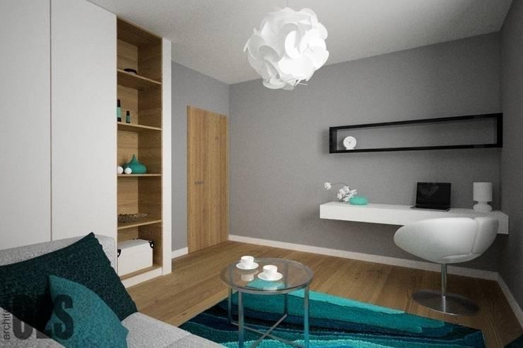 Projekt mieszkania Ustroń: styl , w kategorii Domowe biuro i gabinet zaprojektowany przez OES architekci