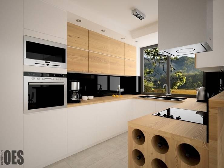Projekt mieszkania Ustroń: styl , w kategorii Kuchnia zaprojektowany przez OES architekci