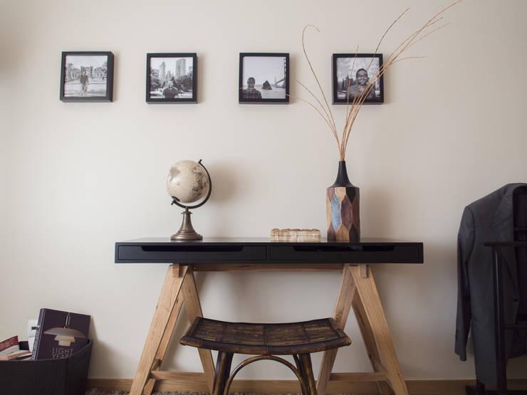 Quarto Terra Colonial - Depois :   por MUDA Home Design