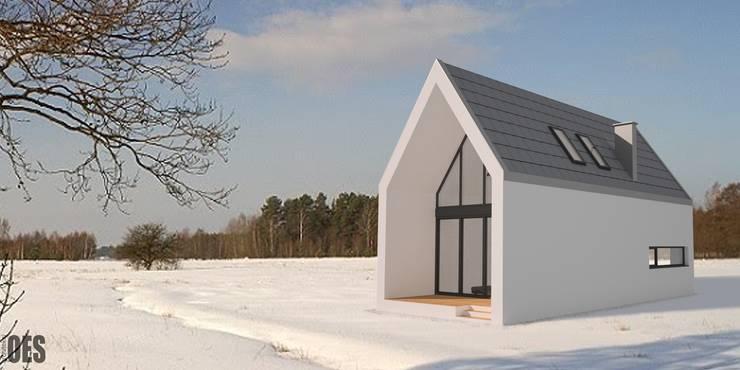 Projekt domu jednorodzinnego : styl , w kategorii Domy zaprojektowany przez OES architekci