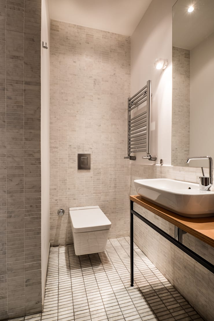 Atelye 70 Planners & Architects – Gabriel Apartment Bathroom: modern tarz Banyo