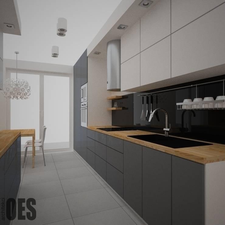 Projekt mieszkania Kraków: styl , w kategorii Kuchnia zaprojektowany przez OES architekci,