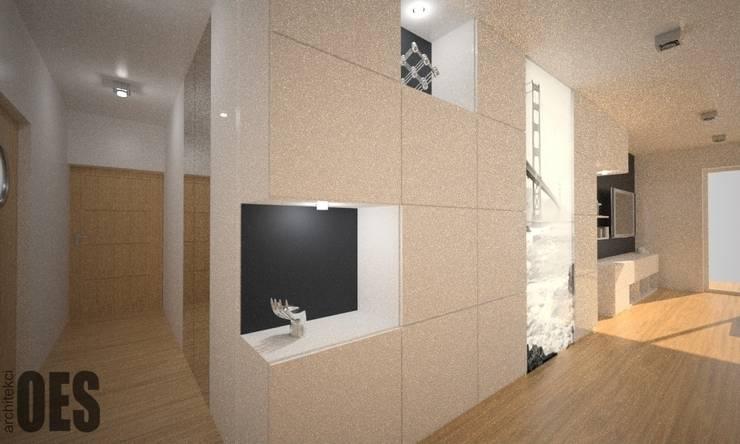 Projekt mieszkania Katowice: styl , w kategorii Korytarz, przedpokój zaprojektowany przez OES architekci
