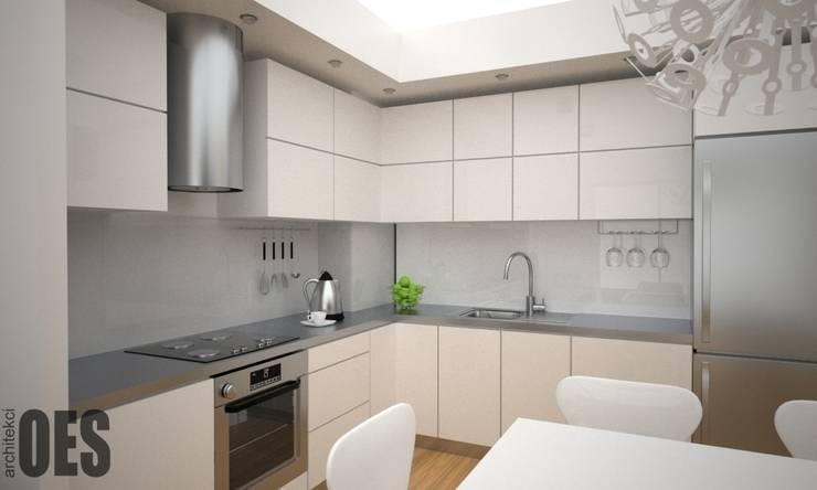 Projekt mieszkania Katowice: styl , w kategorii Kuchnia zaprojektowany przez OES architekci