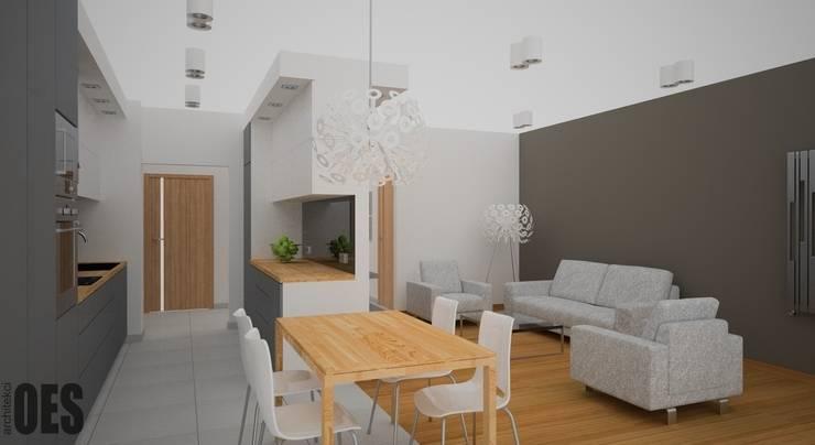 Projekt mieszkania Kraków: styl , w kategorii Salon zaprojektowany przez OES architekci,