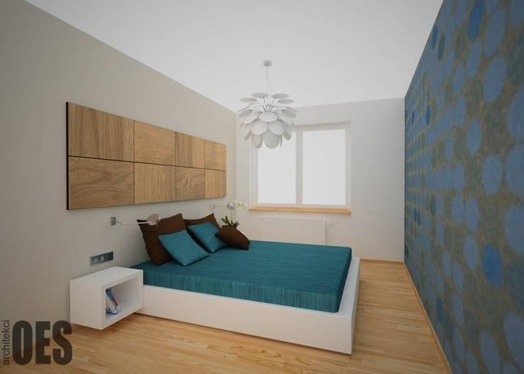 Projekt mieszkania Kraków: styl , w kategorii Sypialnia zaprojektowany przez OES architekci,