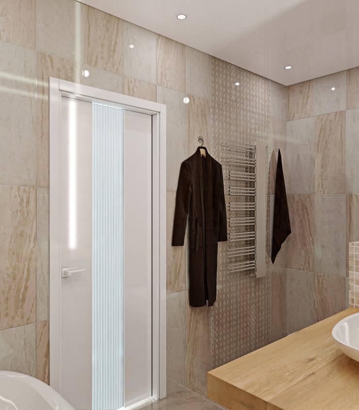 квартира в ЖК <q>Коммунарка</q> для молодого человека: Ванные комнаты в . Автор – 'Лайф Арт'