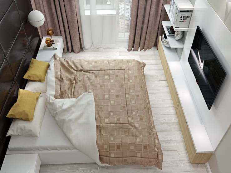 квартира в ЖК <q>Коммунарка</q> для молодого человека: Спальни в . Автор – 'Лайф Арт'