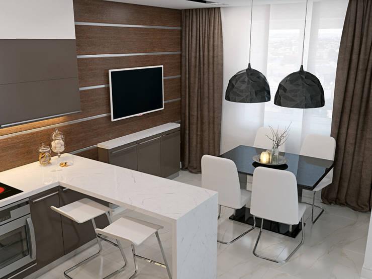 квартира в ЖК <q>Коммунарка</q> для молодого человека: Кухни в . Автор – 'Лайф Арт'