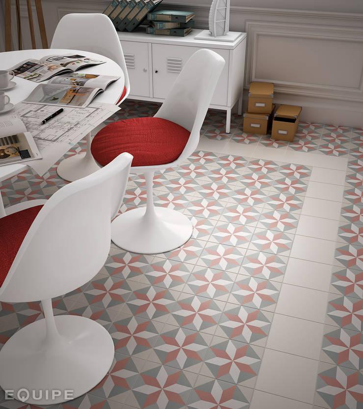 Caprice White, DECO Magic Pastel 20x20: Comedores de estilo  de Equipe Ceramicas