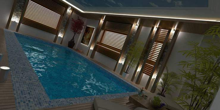 CANSEL BOZKURT  interior architect – VİLLA N'MODA:  tarz Havuz