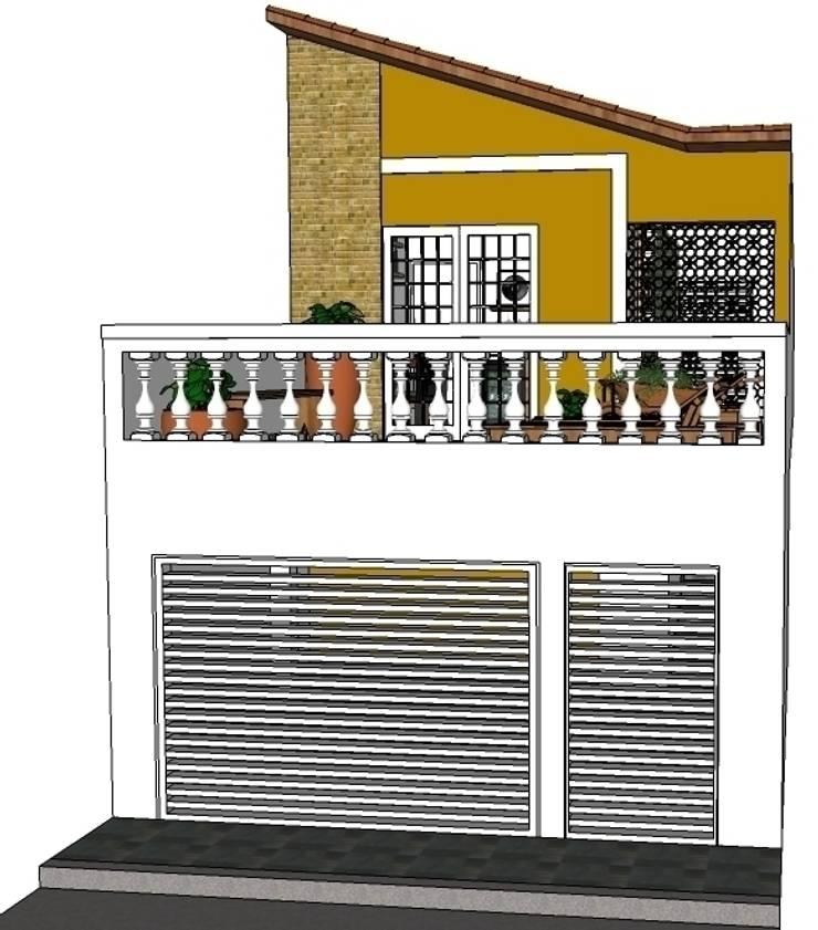 Fachada: Casas  por Natali de Mello - Arquitetura e Arte