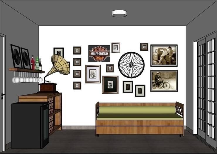 Ruang Kerja oleh Natali de Mello - Arquitetura e Arte, Rustic