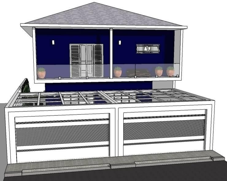 Fachada principal: Casas  por Natali de Mello - Arquitetura e Arte
