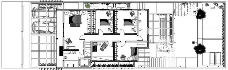 Planta - Pavimento Superior:   por Natali de Mello - Arquitetura e Arte