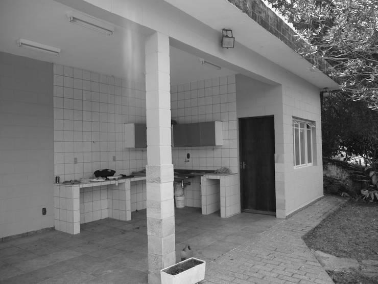 Churrasqueira - Antes:   por Natali de Mello - Arquitetura e Arte