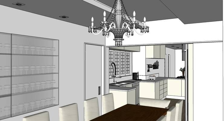 Sala de jantar: Salas de jantar clássicas por Natali de Mello - Arquitetura e Arte