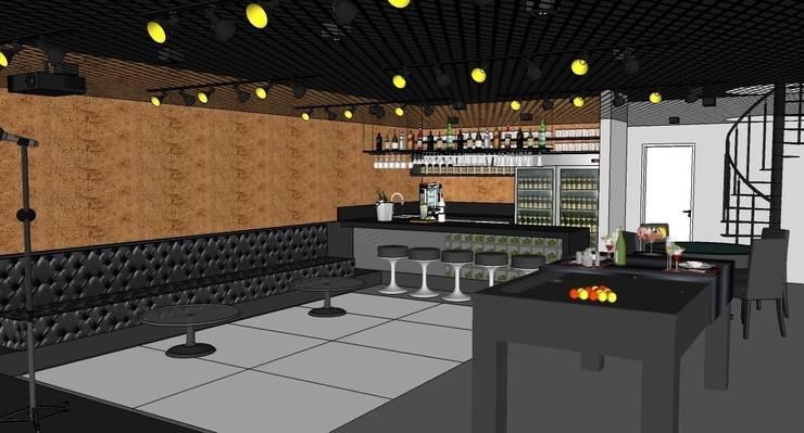 Salão de festas: Salas multimídia modernas por Natali de Mello - Arquitetura e Arte