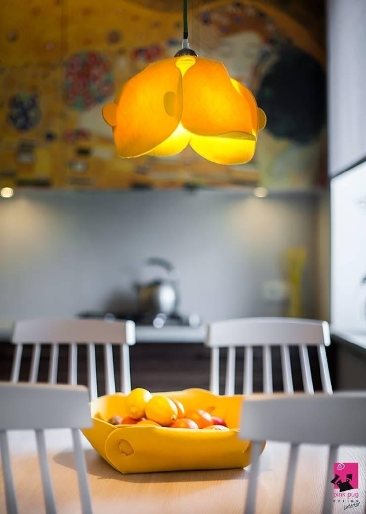 Mieszkanie w Łodzi – 48m2: styl , w kategorii Kuchnia zaprojektowany przez Pink Pug Design Interior