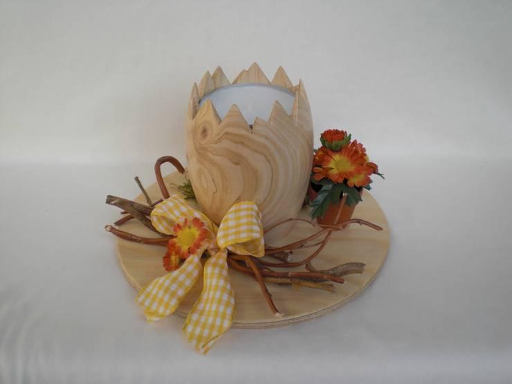 Holz-Teelichthalter , gedrechselt:  Esszimmer von homify