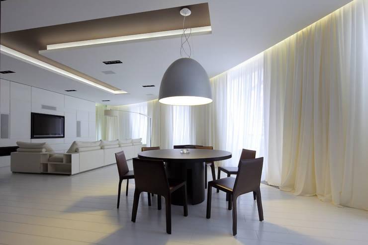 Клубный дом в Борисоглебском переулке 240 м2: Столовые комнаты в . Автор – Gallery 63