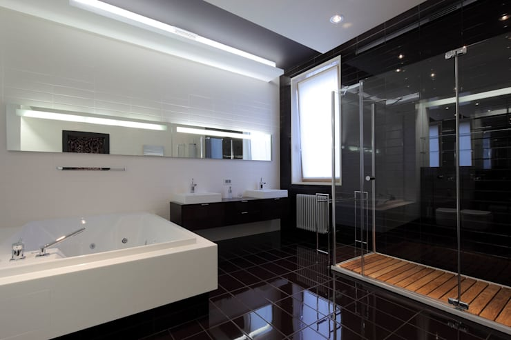 Клубный дом в Борисоглебском переулке 240 м2: Ванные комнаты в . Автор – Gallery 63