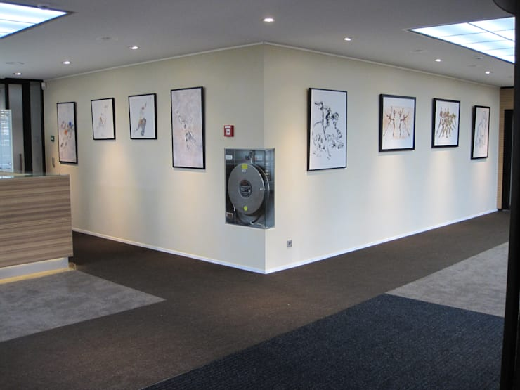 Schilderijen Axel Grothausen :  Kantoorgebouwen door Axel Grothausen BNI