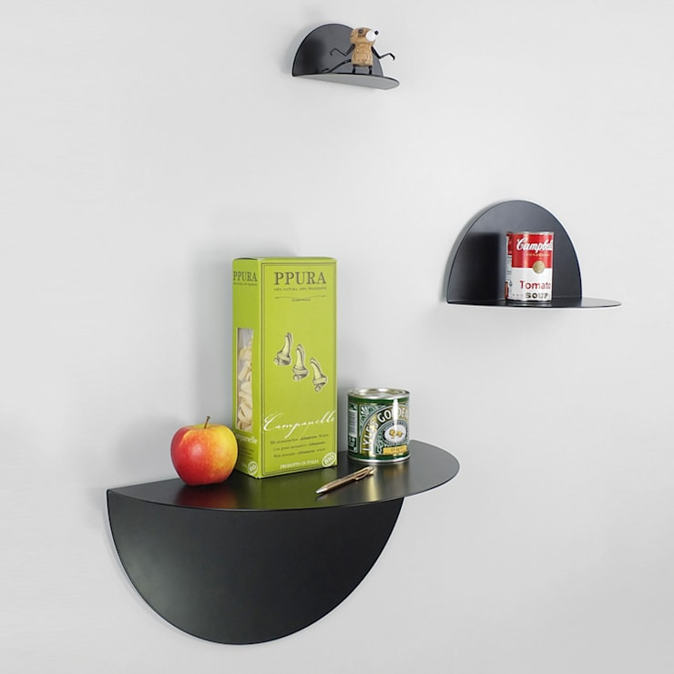 DOT CLOUD black:  Wände & Boden von unoferrum
