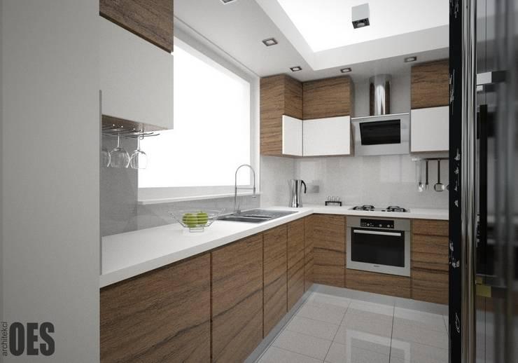 Projekt mieszkania Sosnowiec: styl , w kategorii Kuchnia zaprojektowany przez OES architekci