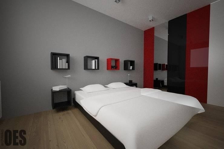 Projekt mieszkania Sosnowiec: styl , w kategorii Sypialnia zaprojektowany przez OES architekci