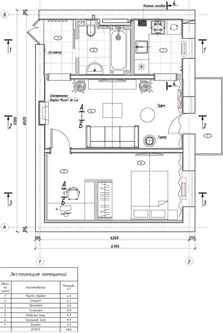 План квартиры после перепланировки:  в . Автор – KARYADESIGN architecture studio