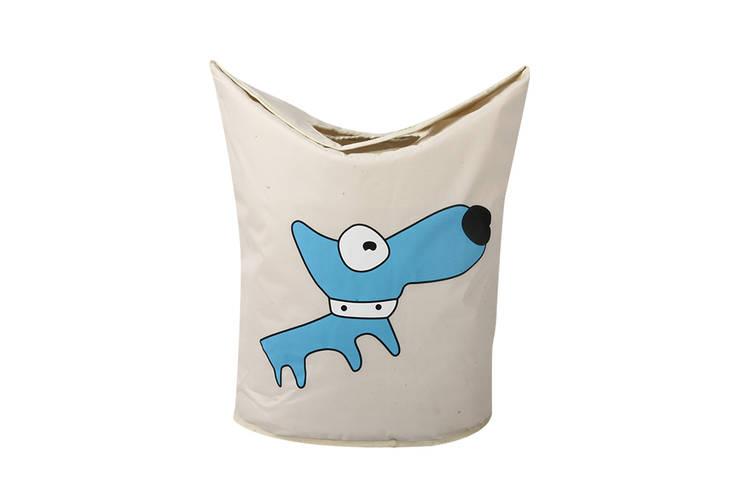 UberLyfe Foldable Blue Dog Laundry Bag cum Storage Box for Kids:  Nursery/kid's room by Uberlyfe