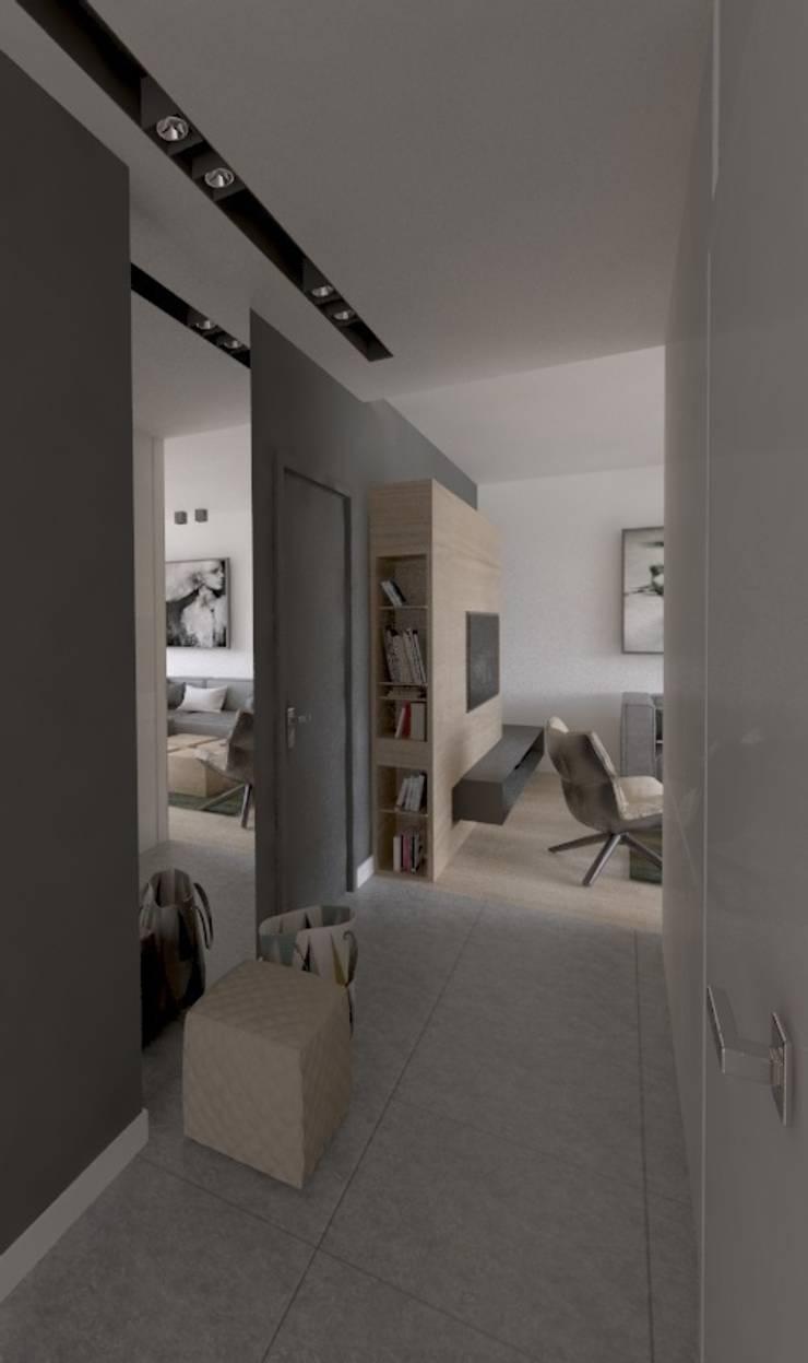 Apartament 100m2 Warszawa: styl , w kategorii Korytarz, przedpokój zaprojektowany przez The Vibe,