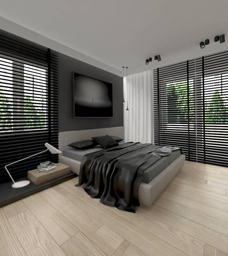 Apartament 100m2 Warszawa: styl , w kategorii Sypialnia zaprojektowany przez The Vibe,